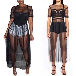 Women Mesh Sheer Dress